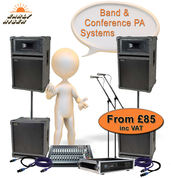 Band Or Conference PA Systems For Hire