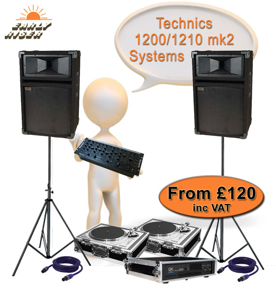 Technics 1200 - 1210 mk2 Turntables for Hire