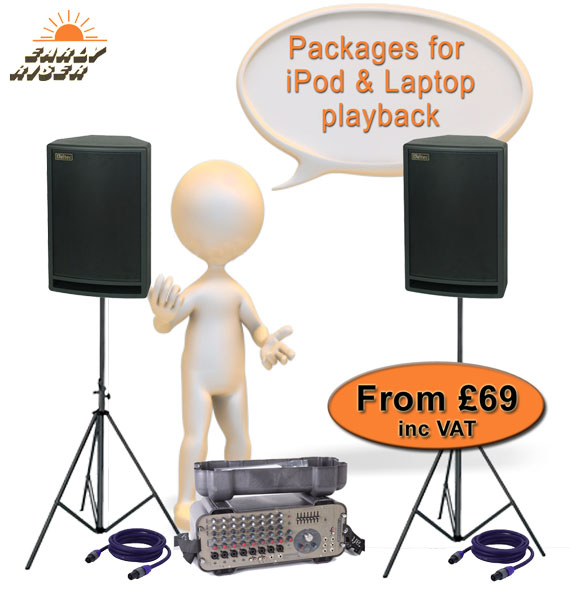 Hire Sound Systems - For iPod & Laptop Playback